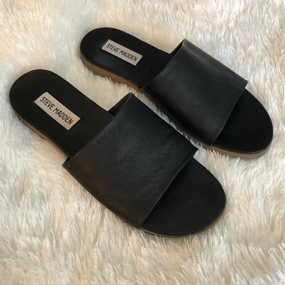 96a47792568 Steve Madden Karolyn Flat Slide Sandals. M 5bb2806c035cf1f1af4e1cb2
